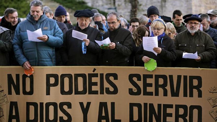 Manifestación contra las inmatriculaciones de la Iglesia