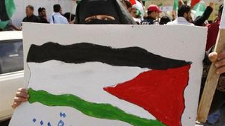 La bandera palestina ondea por primera vez en EEUU