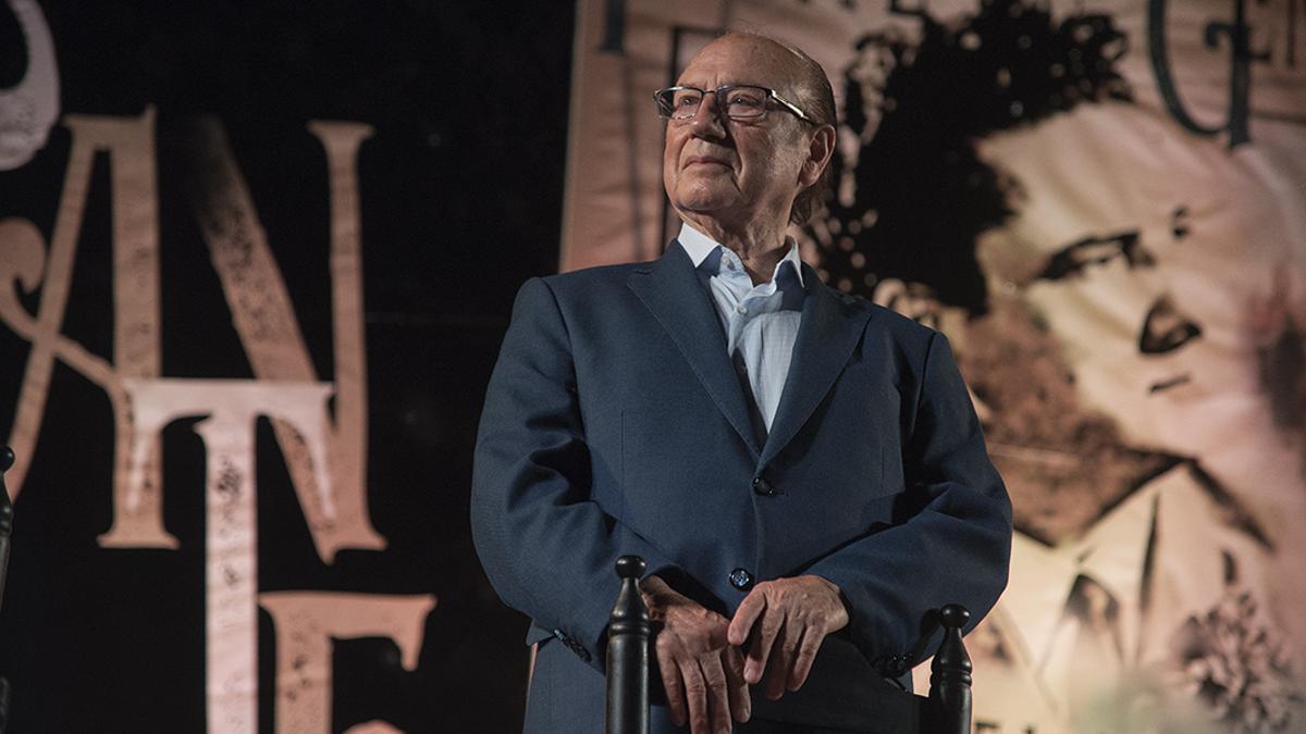 El maestro Fosforito en el Festival de Cante 'Fosforito' de Puente Genil