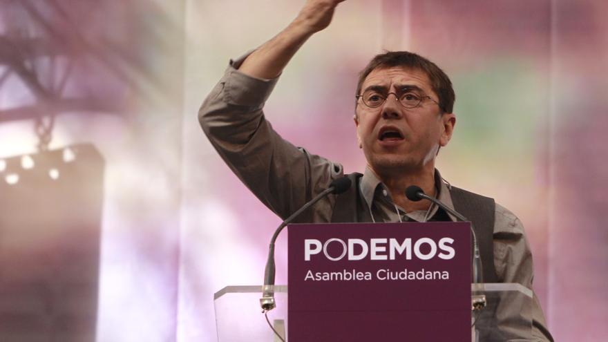Monedero durante la Asamblea Podemos / Marta Jara