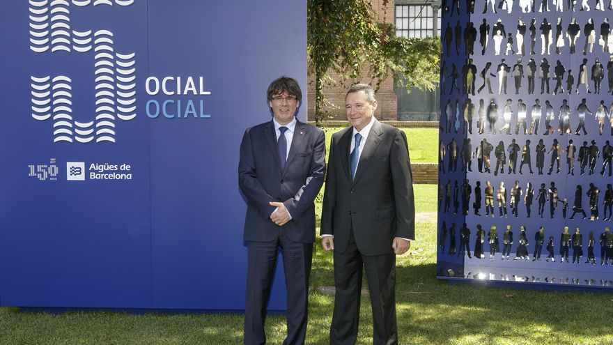 Carles Puigdemont y Ángel Simón