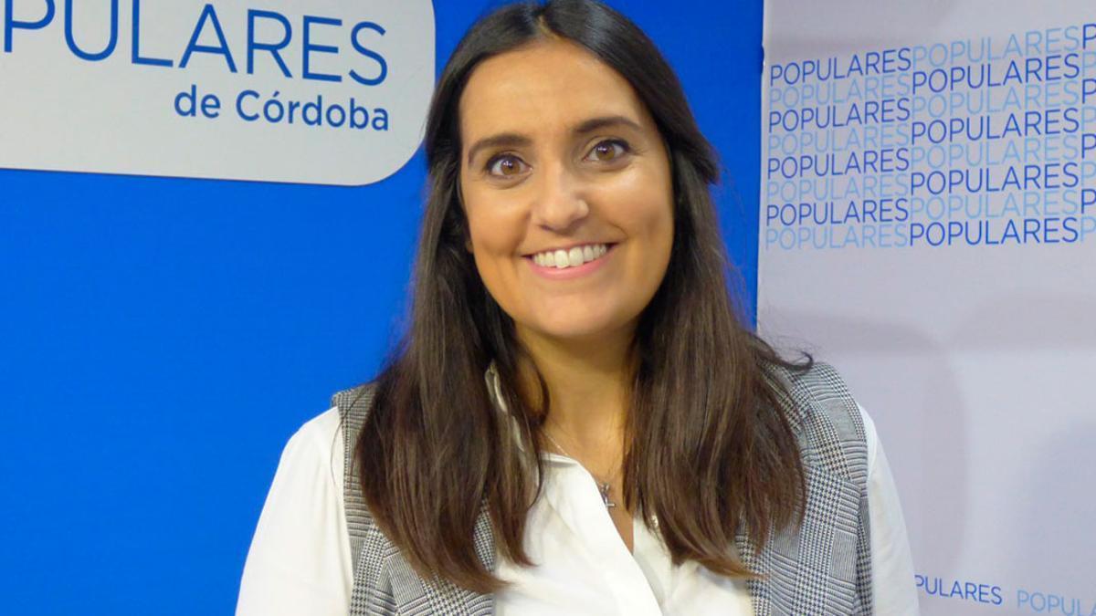 Beatriz Jurado en la sede del PP.