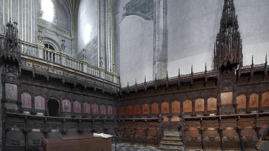 Trabajos de restauración y conservación del conjunto del coro de la catedral de Plasencia / Ministerio de Educación, Cultura y Deporte