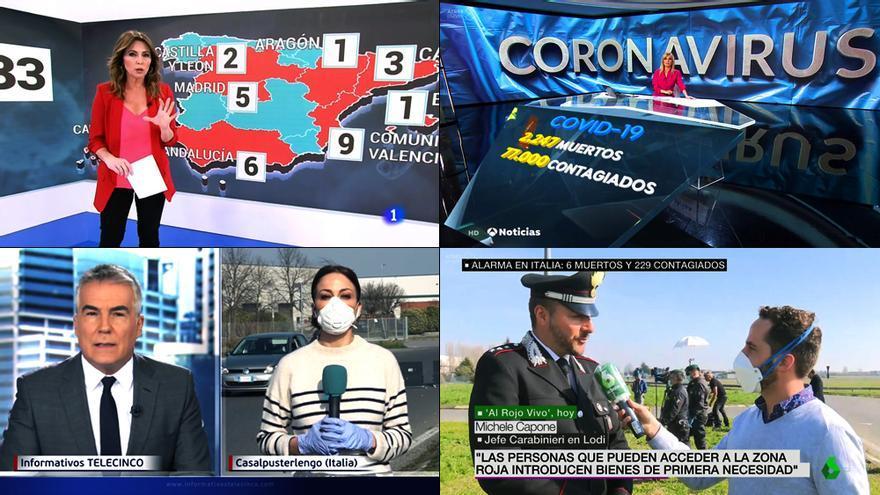 El coronavirus se propaga a los informativos