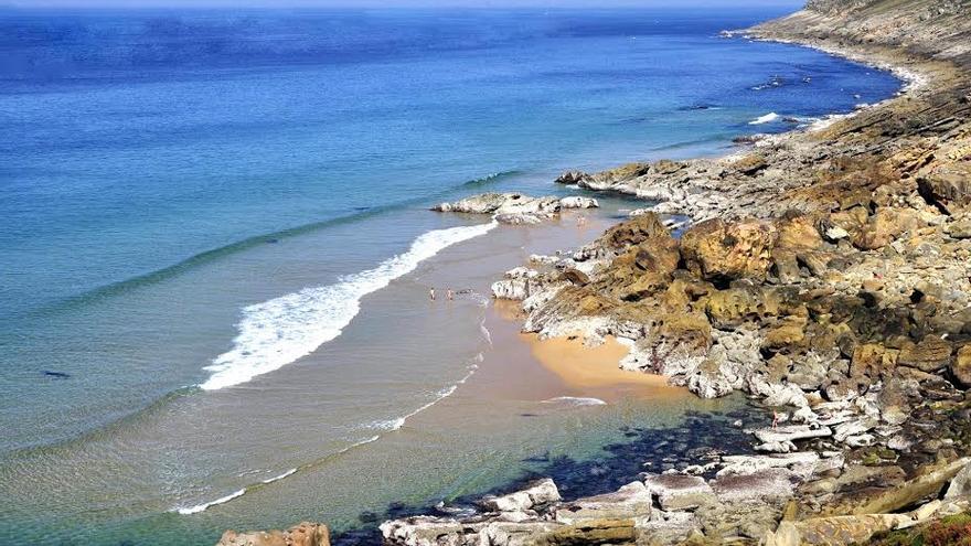 Imagen de la playa de Azabaratza anterior a los sondeos.