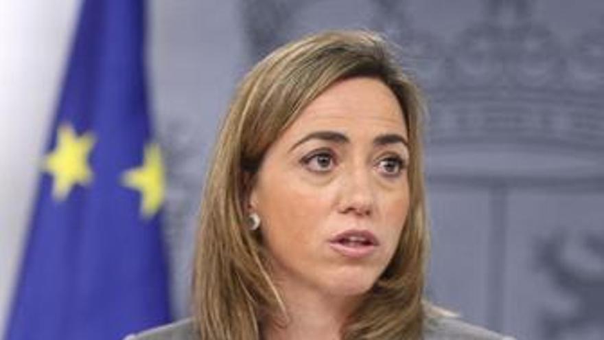 La ministra de Defensa, Carme Chacón, en Moncloa