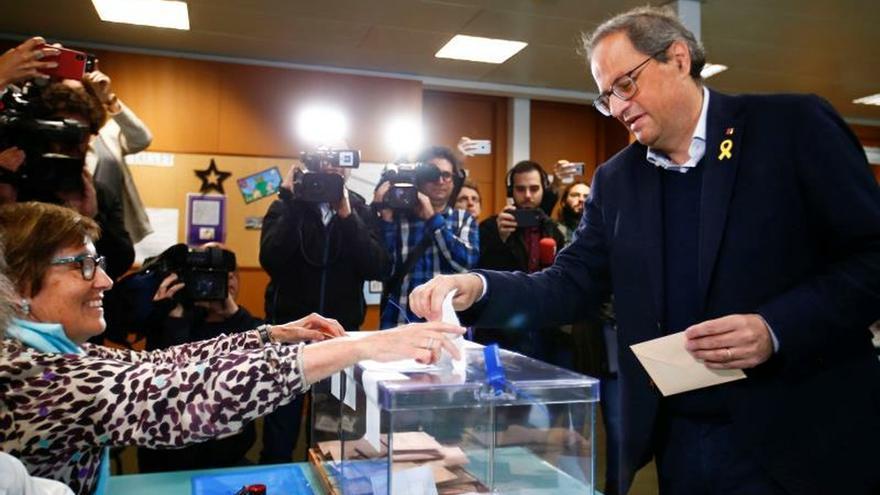 """Torra dice que son elecciones """"muy importantes para el futuro de Cataluña"""""""