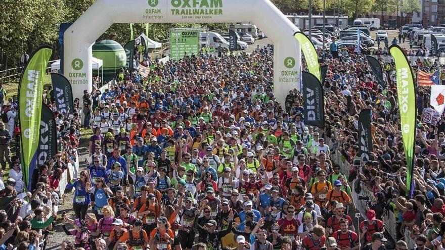 La carrera solidaria Oxfam Intermon Trailwalker,en la que se recorrerán 100 kilómetros de Madrid en 32 horas.