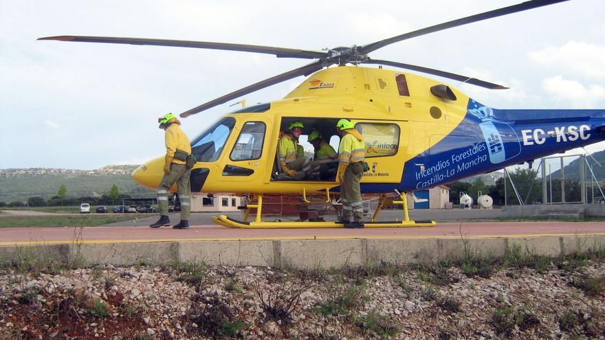 Helicoptero Gecam Castilla-La Mancha, foto por castillalamancha.es