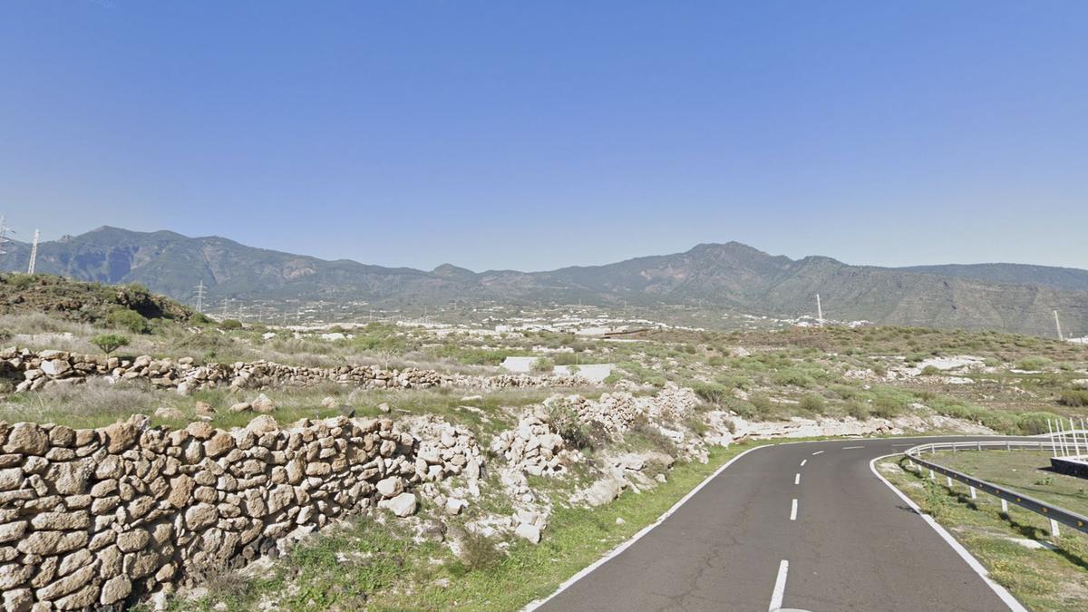 Carretera general del sur (TF-28), a la altura de Candelaria