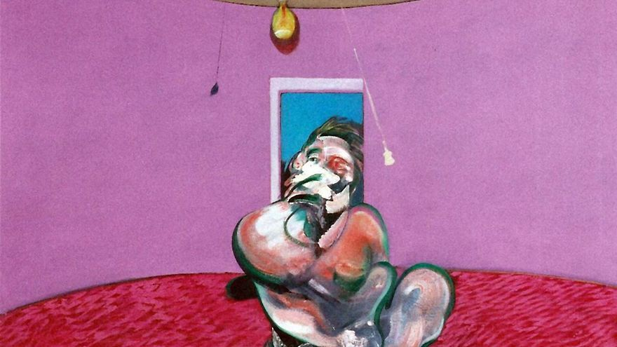 Georges Dyer talking (detalle) - Francis Bacon, 1966.