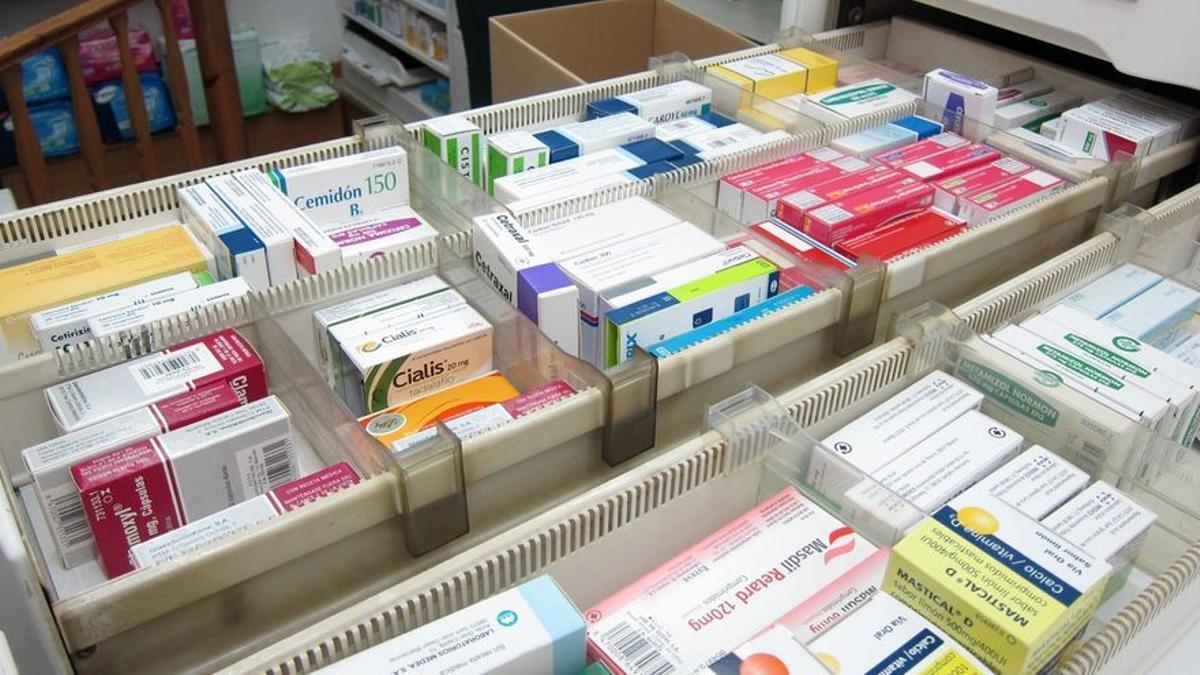 Imagen de archivo de medicamentos.
