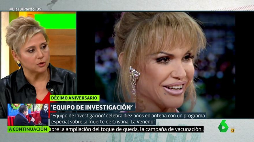 Gloria Serra explica en 'Liarla Pardo' en qué consistirá el reportaje sobre La Veneno