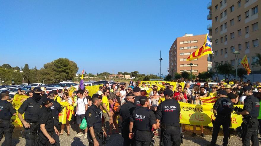 Los Mossos, en la protesta de los CDR
