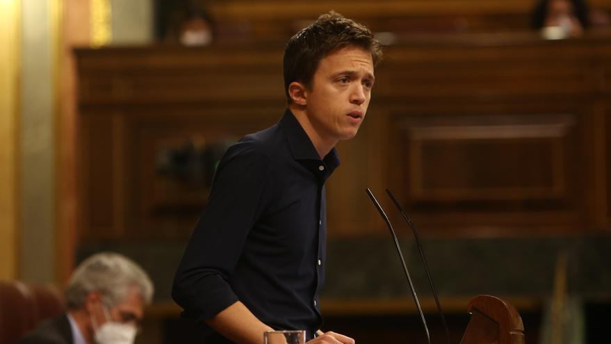 El líder de Más País, Íñigo Errejón, interviene en el Congreso de los Diputados. Madrid (España), a 21 de octubre de 2020.