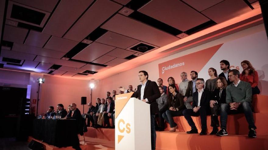 Albert Rivera en la presentación del programa electoral de Ciudadanos para el 21D