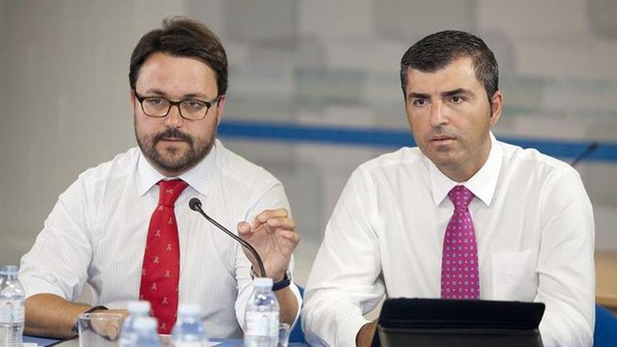 Asier Antona y Manuel Domínguez, presidentes del PP en Canarias y en Tenerife