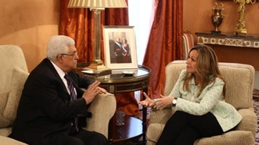 Trinidad Jiménez Con Mahmud Abbas
