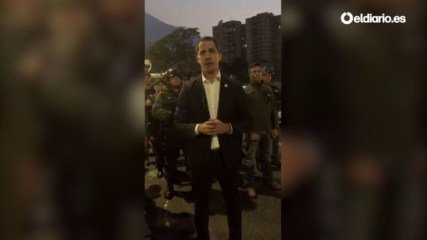 Disturbios en Caracas tras el llamamiento de Guaidó a un golpe de Estado en Venezuela