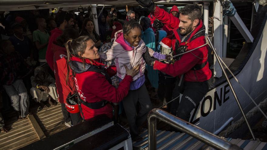 La llegada del 'Open Arms' a Algeciras / Foto: Olmo Calvo