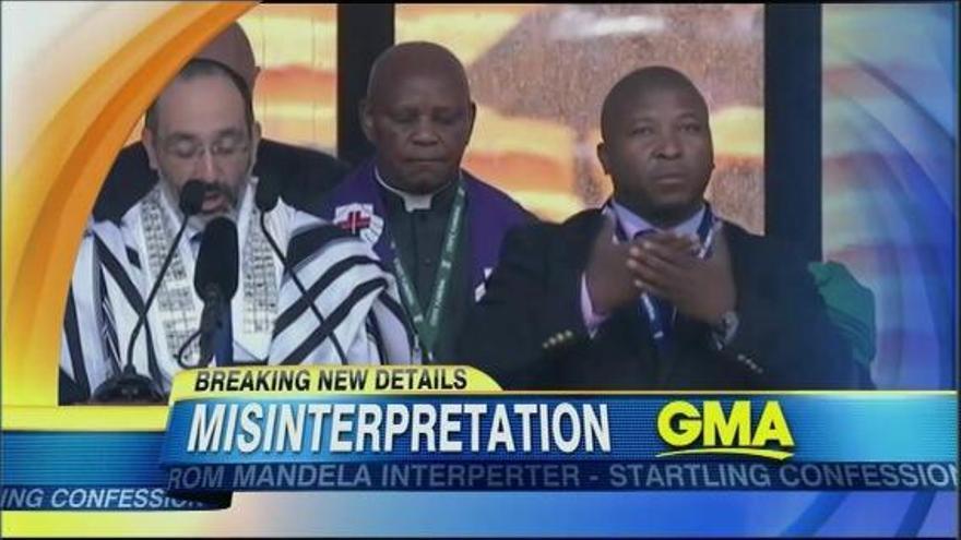 Los gestos falsos del intérprete de lenguaje de signos en el funeral de Mandela le delataron muy pronto.
