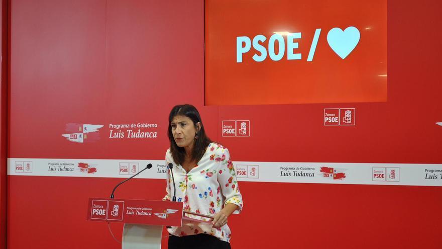 La secretaria general del PSOE de Castilla y León Ana Sánchez.