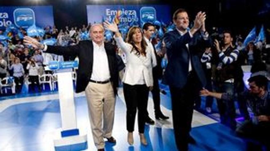 Mariano Rajoy, en un acto preelectoral. (EP)