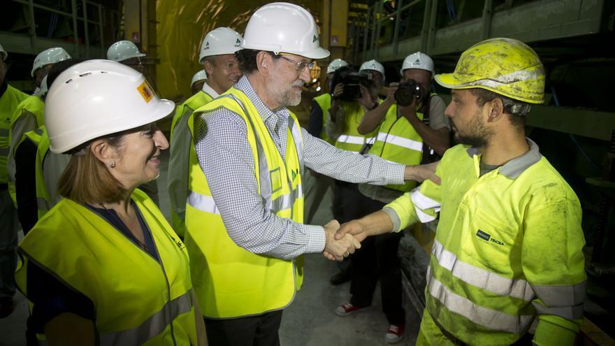 Visita de Rajoy y la entonces ministra Ana Pastor a las obras del túnel de Prado el 19 de agosto de 2015, cuando sus adjudicatarias ya habían cometido dos infracciones