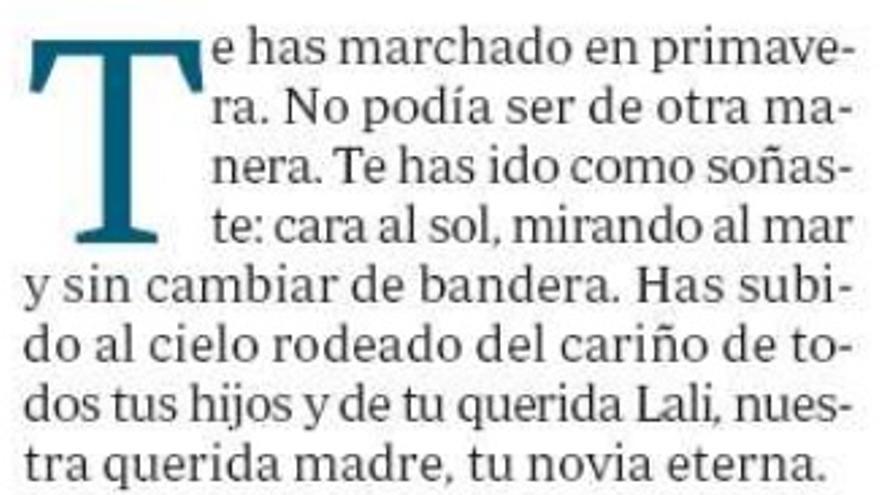 Fragmento carta del hijo de Utrera Molina a su padre