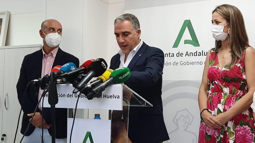 El consejero de la Presidencia, Elías Bendodo, este miércoles en Huelva.