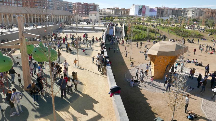 El Parque Central repleto de visitantes