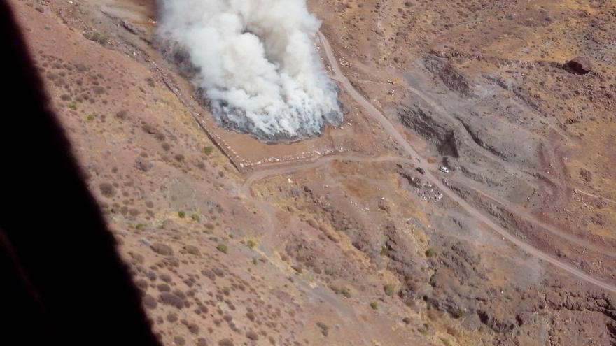 Declarado un conato de fuego en la zona de Las Tabladas, en La Aldea de San Nicolás