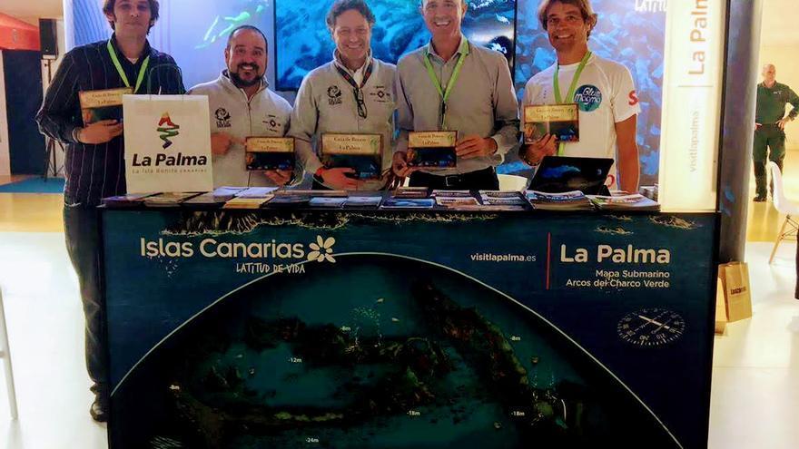 El Cabildo de La Palma, a través de la Consejería de Turismo y Deportes que dirige Raúl Camacho, presenta  la guía de buceo de 'La Isla Bonita' la feria Mediterranean Diving Show.