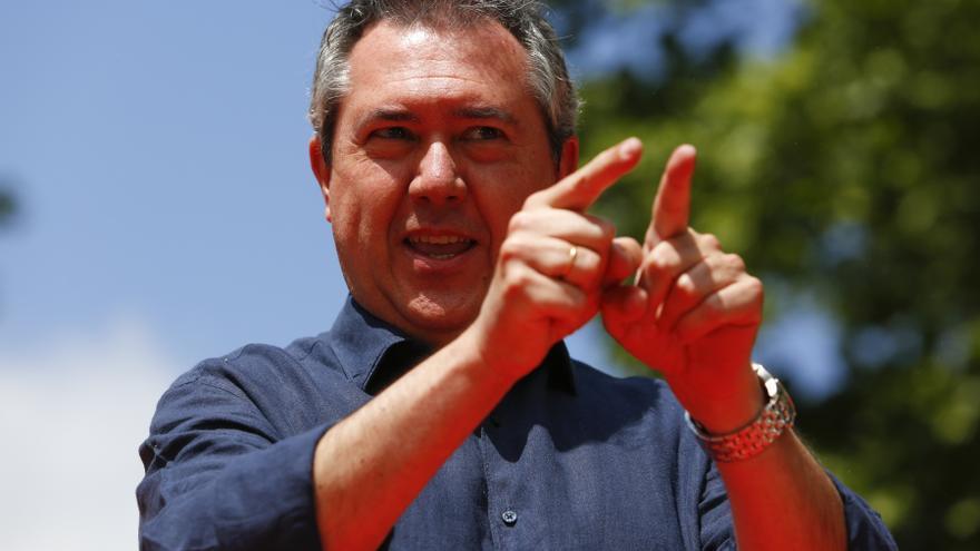 El alcalde de Sevilla, Juan Espadas, en el acto de presentación de su candidatura para las primarias del PSOE andaluz.