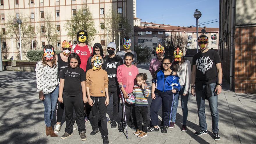 El comando 'Superhéroes de barrio'