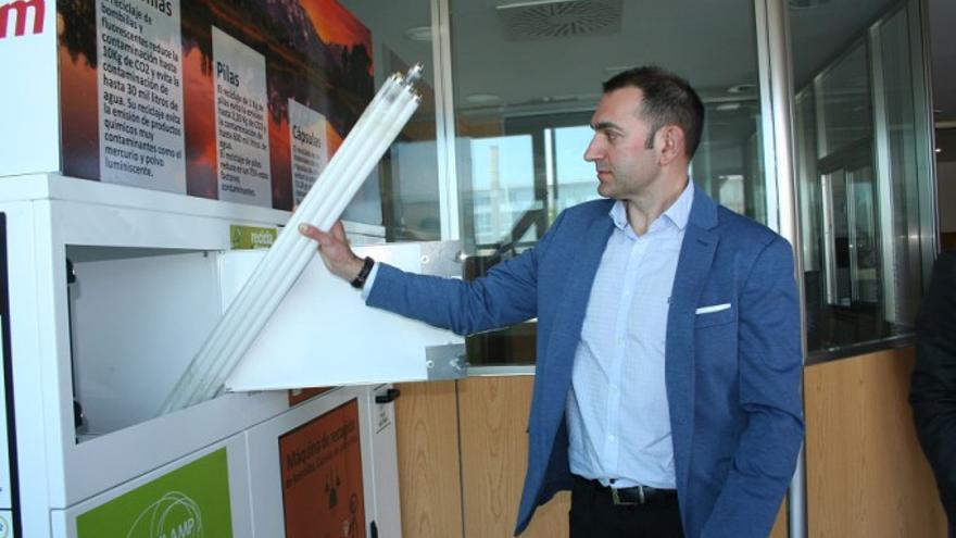VÍDEO | El Parque Científico y Tecnológico de Albacete estrena la primera máquina que recicla cápsulas de café