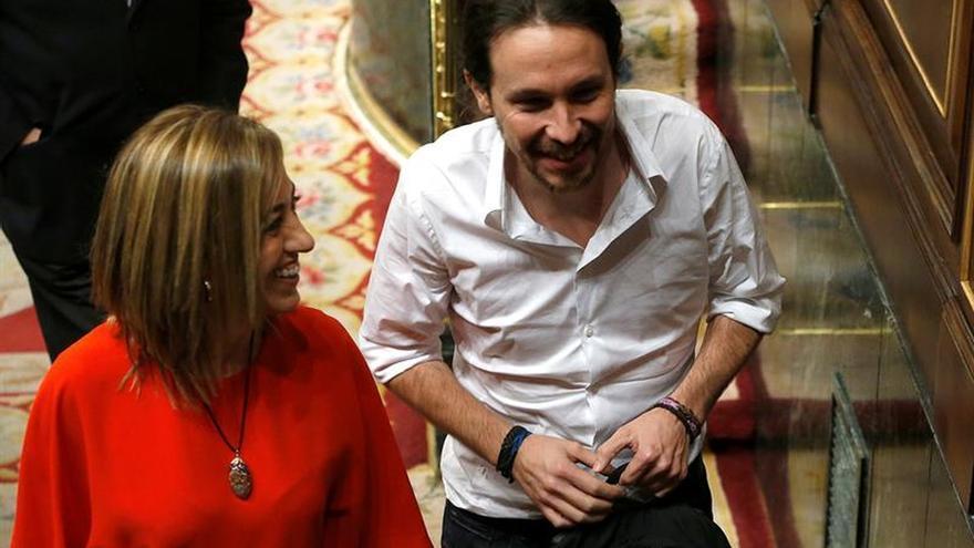 """Pablo Iglesias alaba a Chacón: """"Se va una mujer brillante"""""""