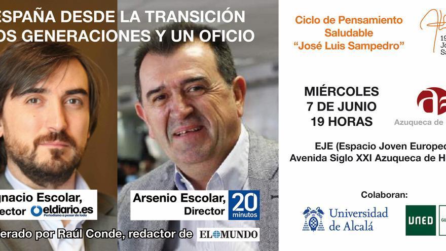 Ignacio y Arsenio Escolar estarán este miércoles en Azuqueca de Henares (Guadalajara)