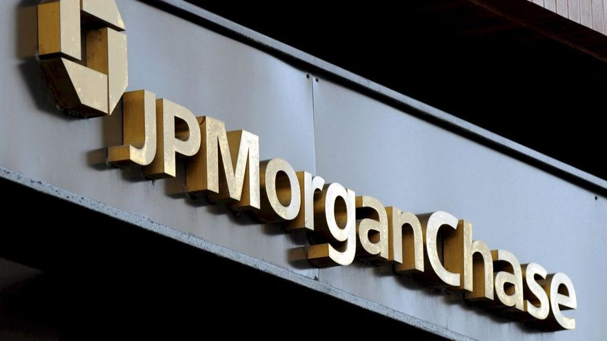 En la imagen, logo del banco JP Morgan Chase en Nueva York (Estados Unidos).