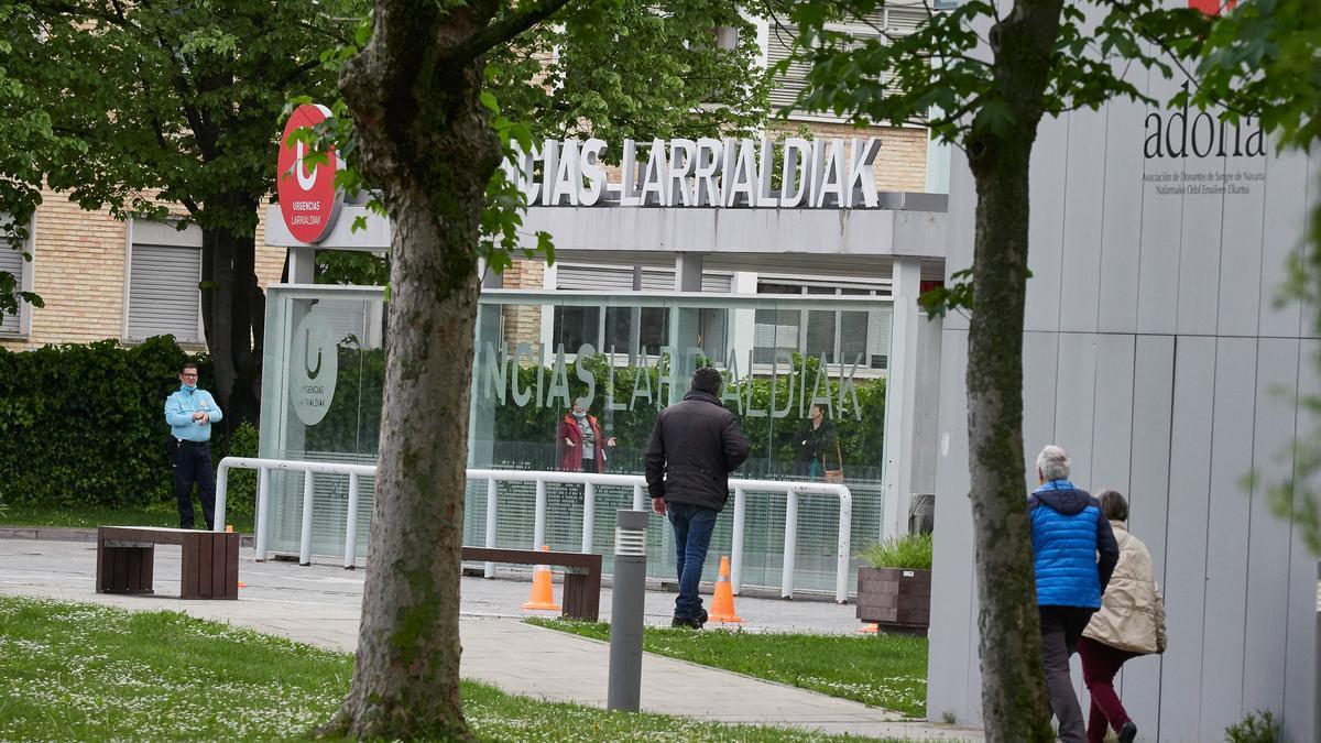 Acceso del Servicio de Urgencias del Complejo Hospitalario de Navarra