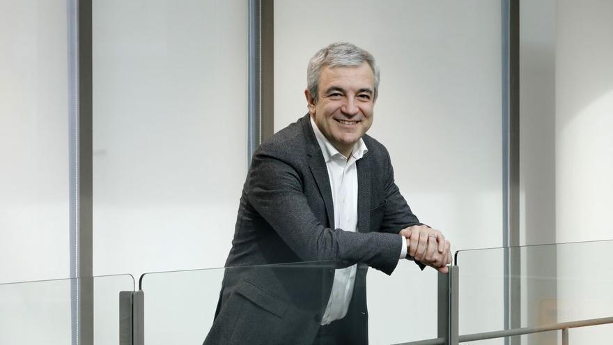 Luis Garicano, candidato a las elecciones europeas de Ciudadanos, en la sede del partido