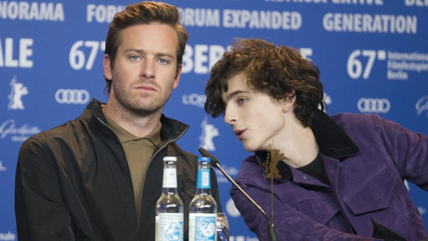 Armie Hammer y Timothée Chalamet, protagonistas de 'Call me by your name', en la Berlinale 2017