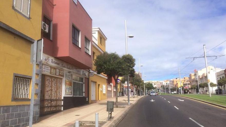 Tramo de la avenida de Los Menceyes, en La Laguna, en una imagen de archivo