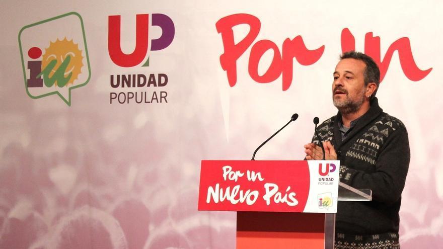 """Castro (IU-Unidad Popular) critica una campaña electoral """"desenfrenada"""" hacia el centro"""