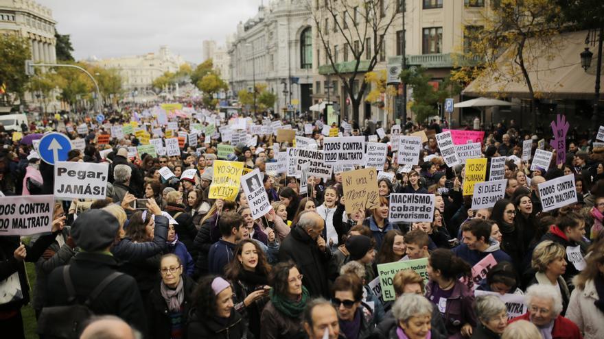 Las mujeres recorren el centro de Madrid contra la violencia de género