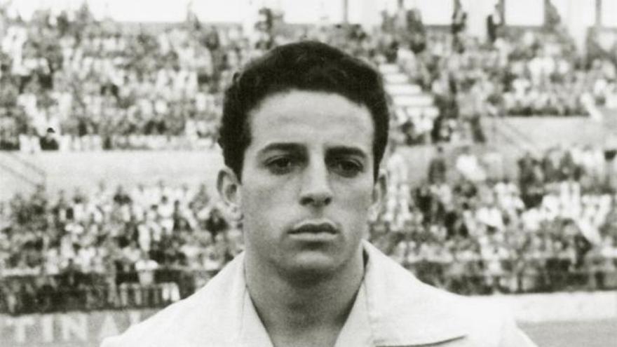 El jugador de la UD Las Palmas, Junito Vázquez.