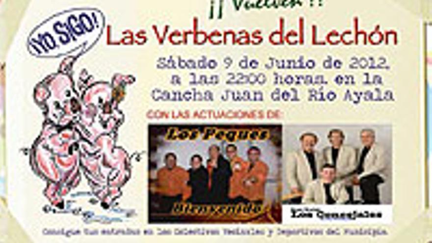 Cartel anunciador de la Verbena del Lechón 2012.