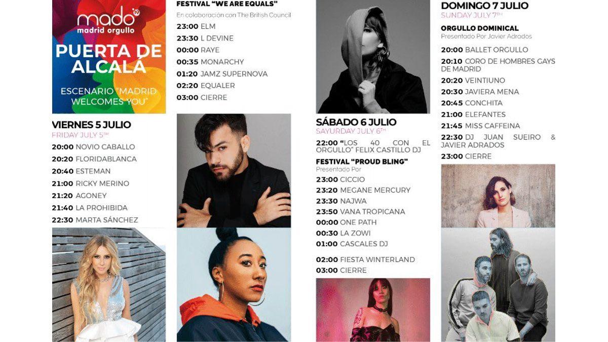 Programa del escenario de la Puerta de Alcalá MADO 2019 | MADO