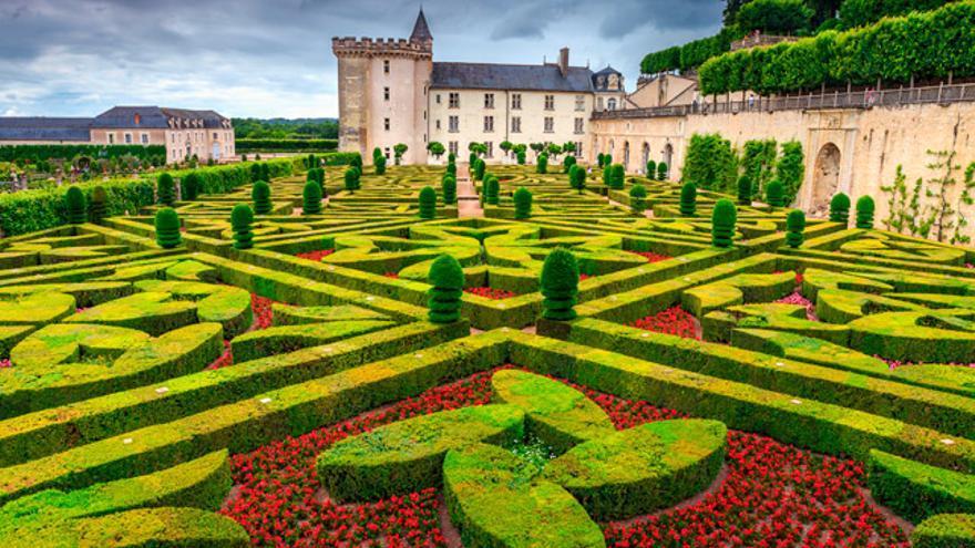 El castillo de Villandry destaca por su bello jardín renacentista.