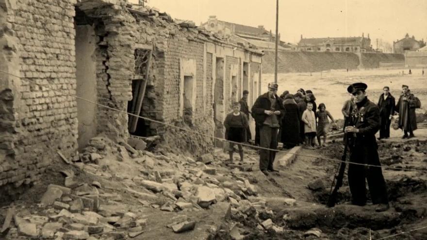 Bombardeo en Alcañiz